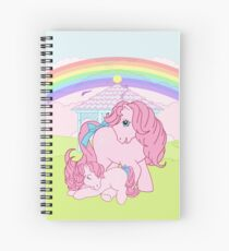 retro g1 my little pony cotton candy and baby Spiral Notebook