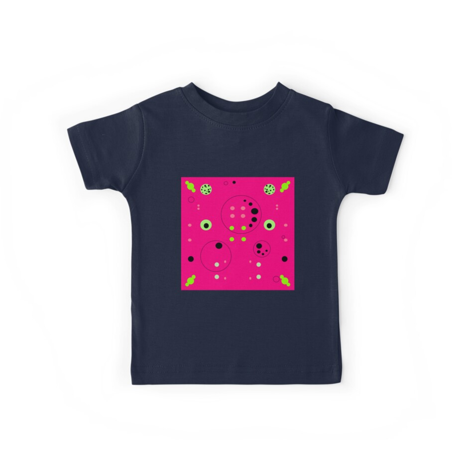 Cute Pink symmetric and unsymetric biology science pattern design by M-Lorentsson