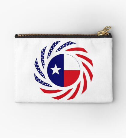 Texan Murican Patriot Flag Series Zipper Pouch