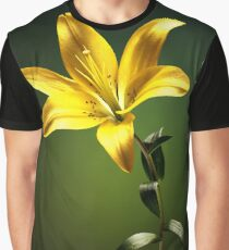 Yellow lily with stem Graphic T-Shirt