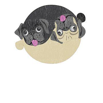 Yin Yang Pug Lover Zen Design by breidbe
