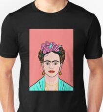 Frida Kahlo ( Coral background ) Unisex T-Shirt