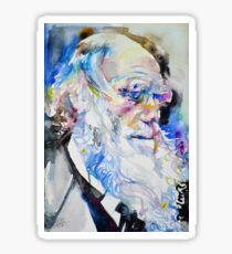 CHARLES DARWIN - watercolor portrait.8 Sticker