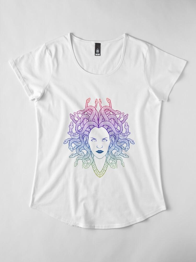 Alternate view of Medusa (colors) Premium Scoop T-Shirt