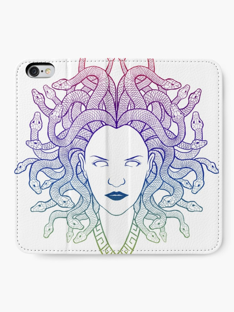Alternate view of Medusa (colors) iPhone Wallet
