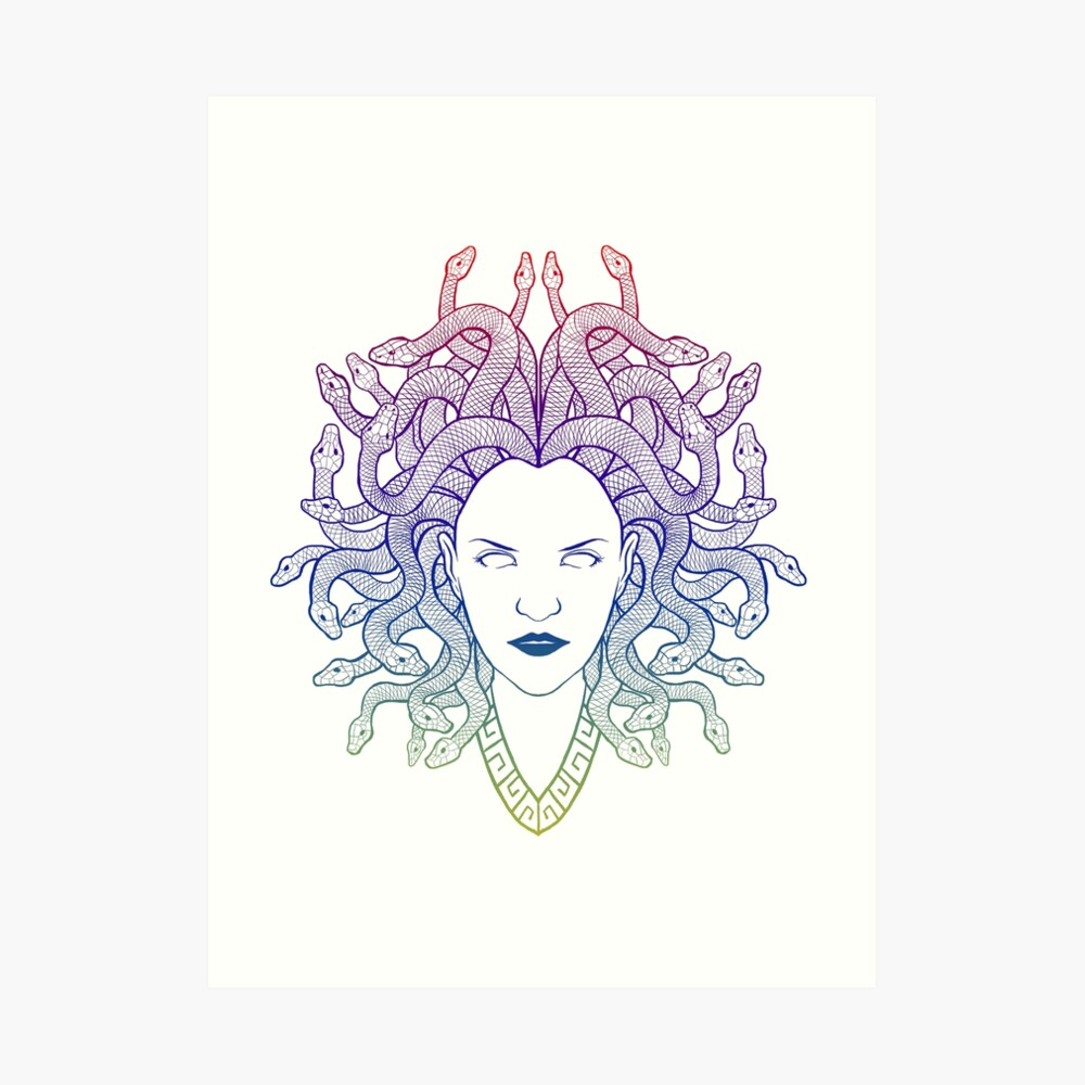 Medusa (colors) Art Print