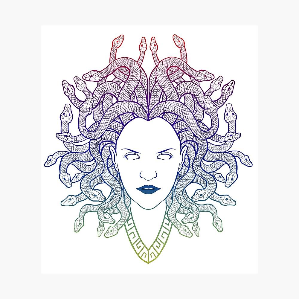 Medusa (colors) Photographic Print