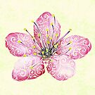 Swirly Cherry Blossom by . VectorInk