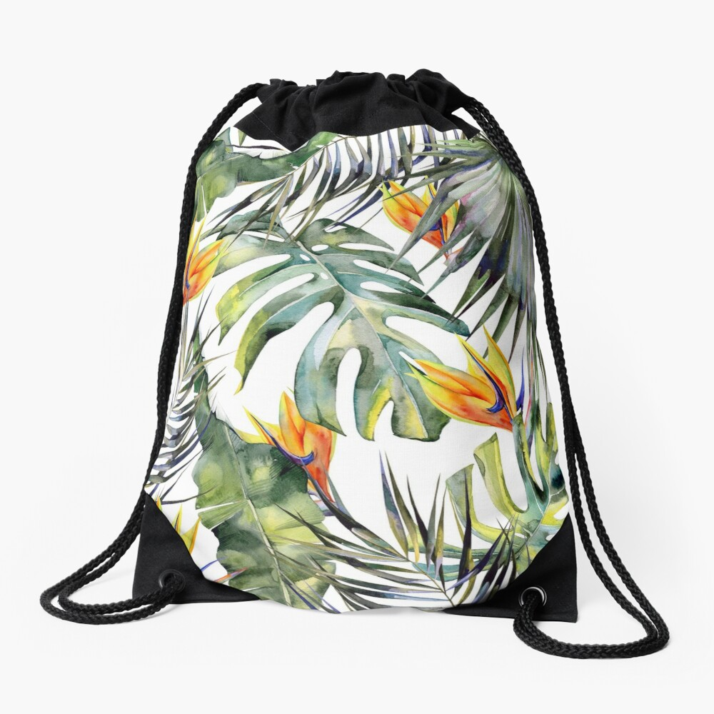 TROPICAL GARDEN Drawstring Bag