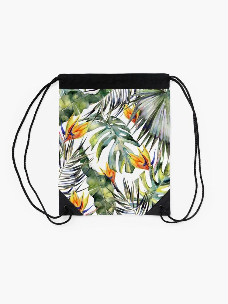 Alternate view of TROPICAL GARDEN Drawstring Bag