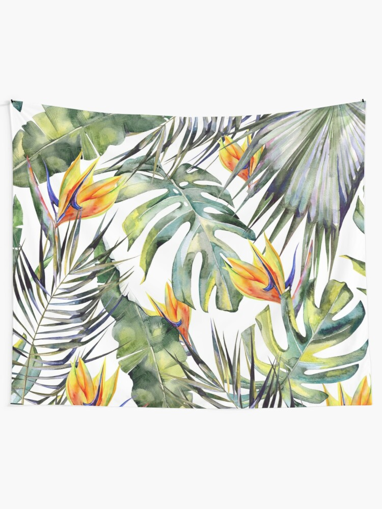 Alternate view of TROPICAL GARDEN Tapestry