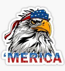 Pegatina Merica Eagle Mullet Merica Bandera americana 4 de julio Día de la Independencia Murica USA Pride Memorial patriotismo