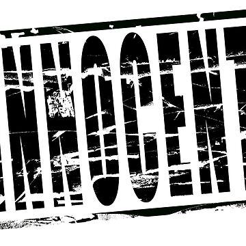 Digital composite - Black stamp effect - Innocent by stuwdamdorp