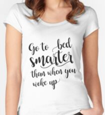 Go to bed smarter | Charlie Munger Women's Fitted Scoop T-Shirt