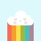 Rainbow Happy Little Cloud Custom Background Color by DesIndie