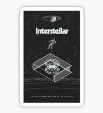 Interstellar movie Sticker