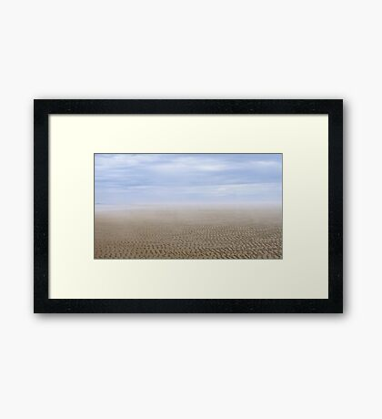 Low TIde Clam Flats Framed Print