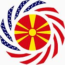 Macedonian American Multinational Patriot Flag Series by Carbon-Fibre Media