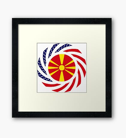 Macedonian American Multinational Patriot Flag Series Framed Print