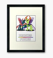 Bronies Over Ponies Funny  Framed Print