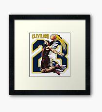 Lebron Cleveland 23 Framed Print