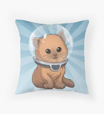 Subnautica: Keep Calm Kitty Throw Pillow