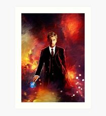 10th Doctor abstract Art Print