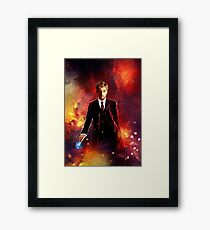 10th Doctor abstract Framed Print