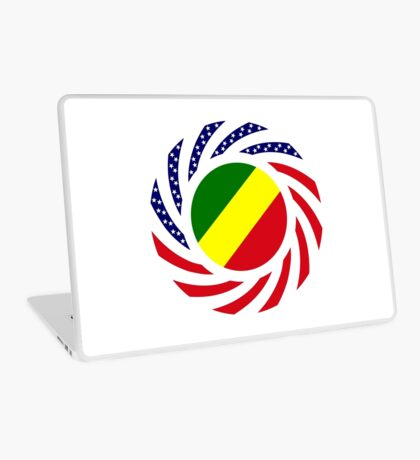 Congolese American (Republic of) Multinational Patriot Flag Series Laptop Skin