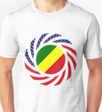Congolese American (Republic of) Multinational Patriot Flag Series Slim Fit T-Shirt