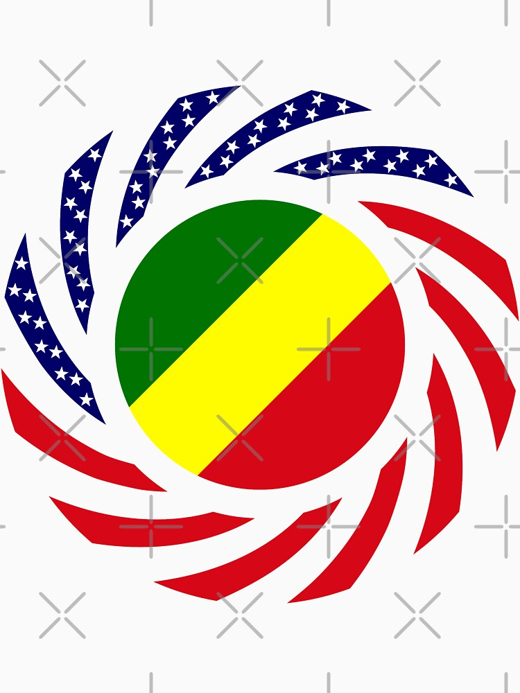 Congolese American (Republic of) Multinational Patriot Flag Series by carbonfibreme