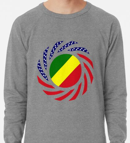 Congolese American (Republic of) Multinational Patriot Flag Series Lightweight Sweatshirt