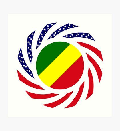 Congolese American (Republic of) Multinational Patriot Flag Series Art Print