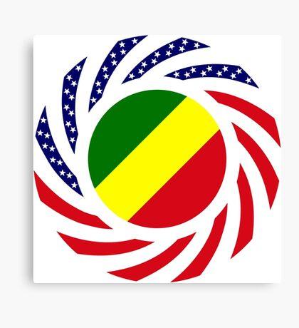 Congolese American (Republic of) Multinational Patriot Flag Series Canvas Print
