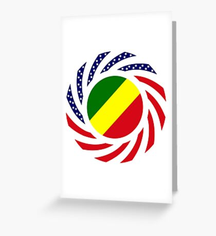 Congolese American (Republic of) Multinational Patriot Flag Series Greeting Card