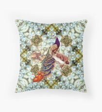 Peacocks and Feathers Throw Pillow