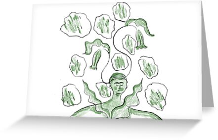 Thinker of tender thoughts greeting cards by tradao redbubble thinker of tender thoughts m4hsunfo