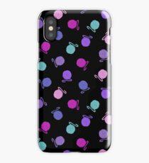 Tossed Yarn Balls on Black  iPhone Case