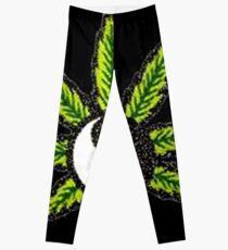 Yin Yang Weed Leaf 420 Life Leggings