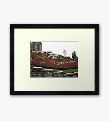 Flower Clock Framed Print