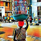 Basket of Commodities - Pop Art Collection by Wonuola Lawal