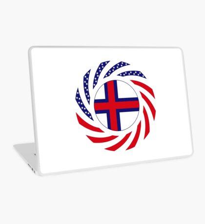 Faroe Islands American Multinational Patriot Flag Series Laptop Skin