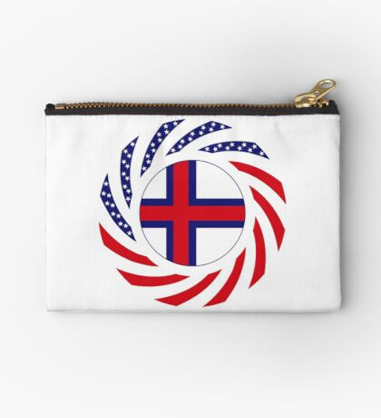 Faroe Islands American Multinational Patriot Flag Series Zipper Pouch