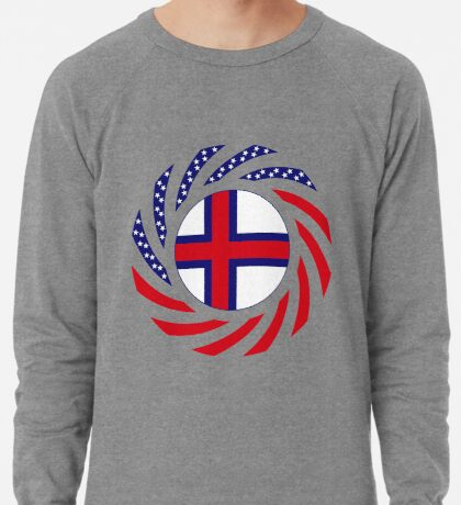 Faroe Islands American Multinational Patriot Flag Series Lightweight Sweatshirt