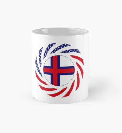 Faroe Islands American Multinational Patriot Flag Series Mug