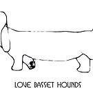 Love basset hounds by doggyshop