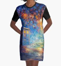 Phone box with the moon light Graphic T-Shirt Dress