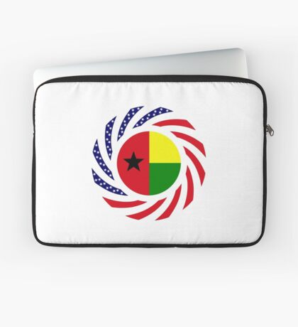 Guinea Bissau American Multinational Patriot Flag Series Laptop Sleeve