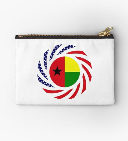 Guinea Bissau American Multinational Patriot Flag Series Zipper Pouch