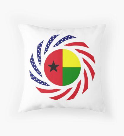 Guinea Bissau American Multinational Patriot Flag Series Throw Pillow